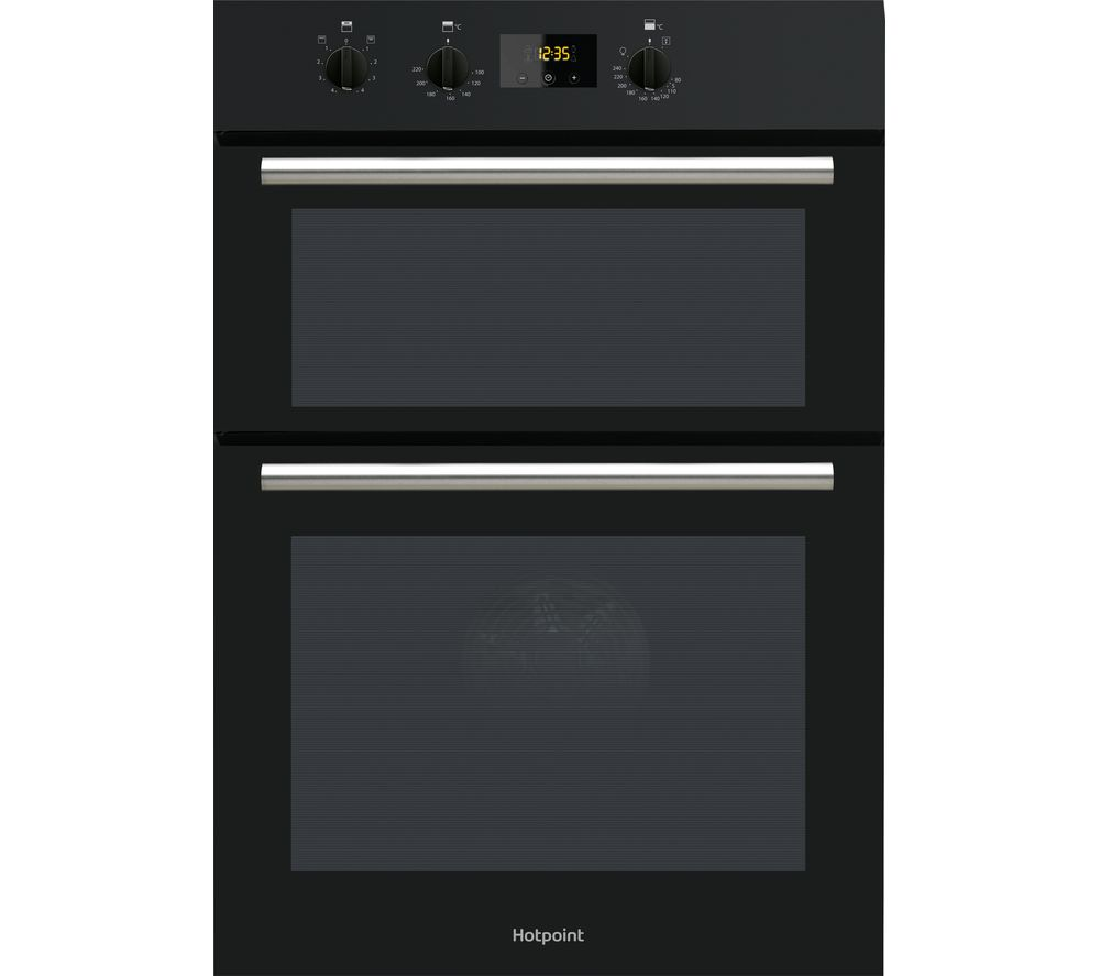 HOTPOINT DD2 540 BL Electric Double Oven - Black