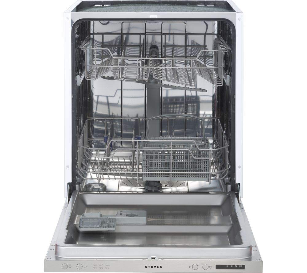 Image of STOVES ST SDW60 Full-size Integrated Dishwasher - Stainless Steel, Stainless Steel