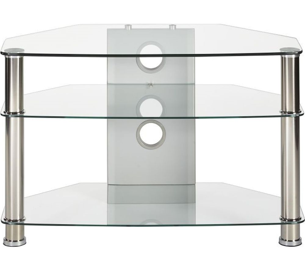 MMT Jet CL-800 TV Stand - Clear Glass