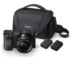 SONY a6000 Mirrorless Camera with 16-50 mm f/3.5-5.6 Lens & Accessories - Black