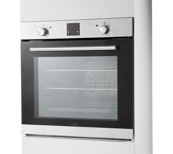 LOGIK LBLFANX17 Electric Oven - Inox & Black
