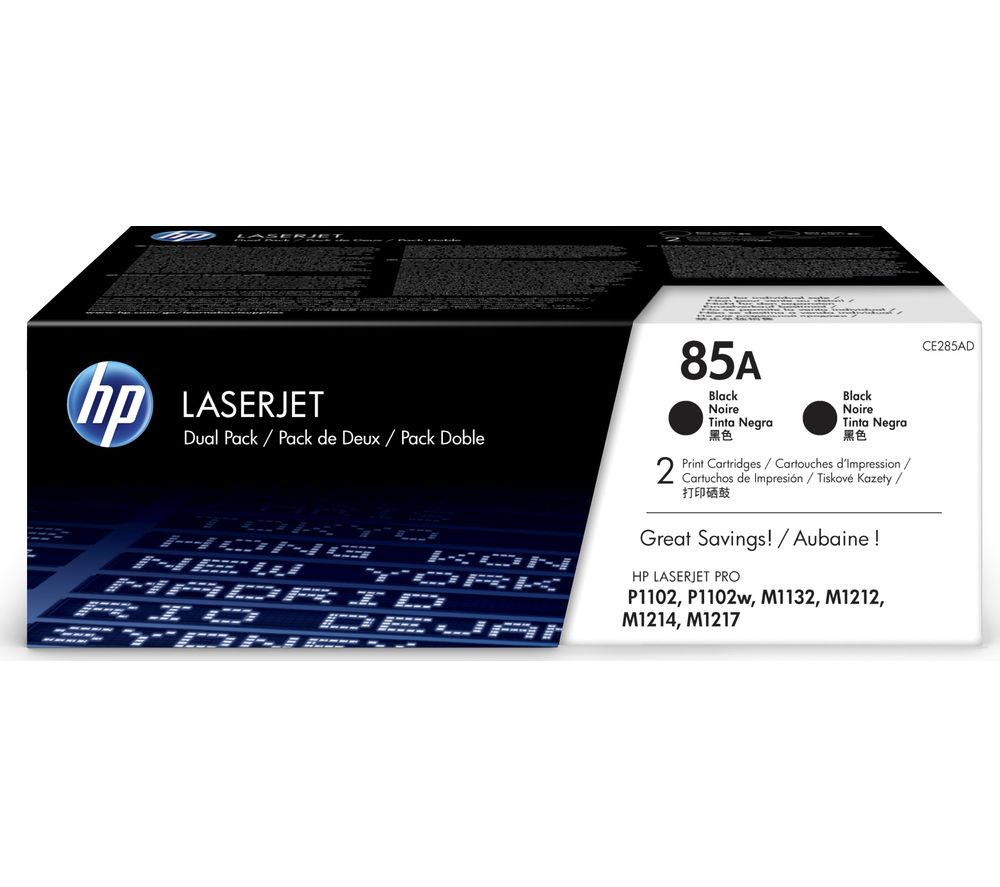 HP 85A Original LaserJet Black Toner Cartridge - Twin Pack