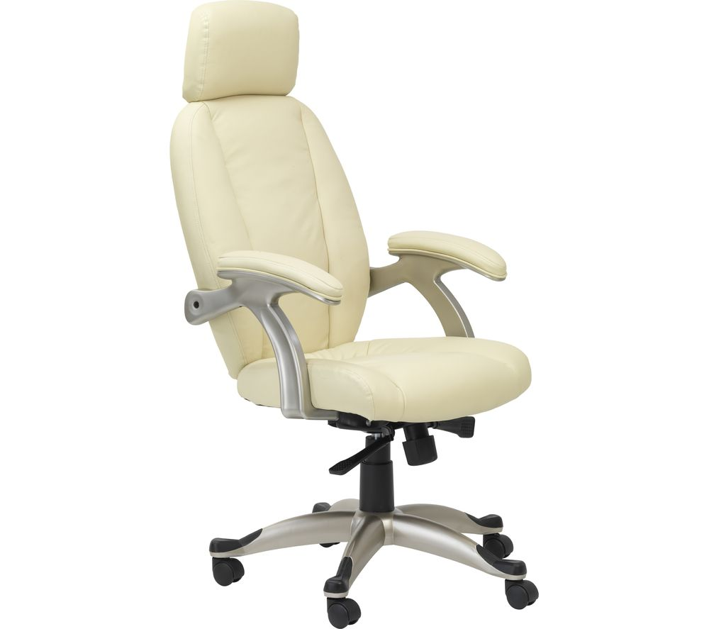 Alphason bentley aoc6355 l cr leather tilting executive for Cream office chair