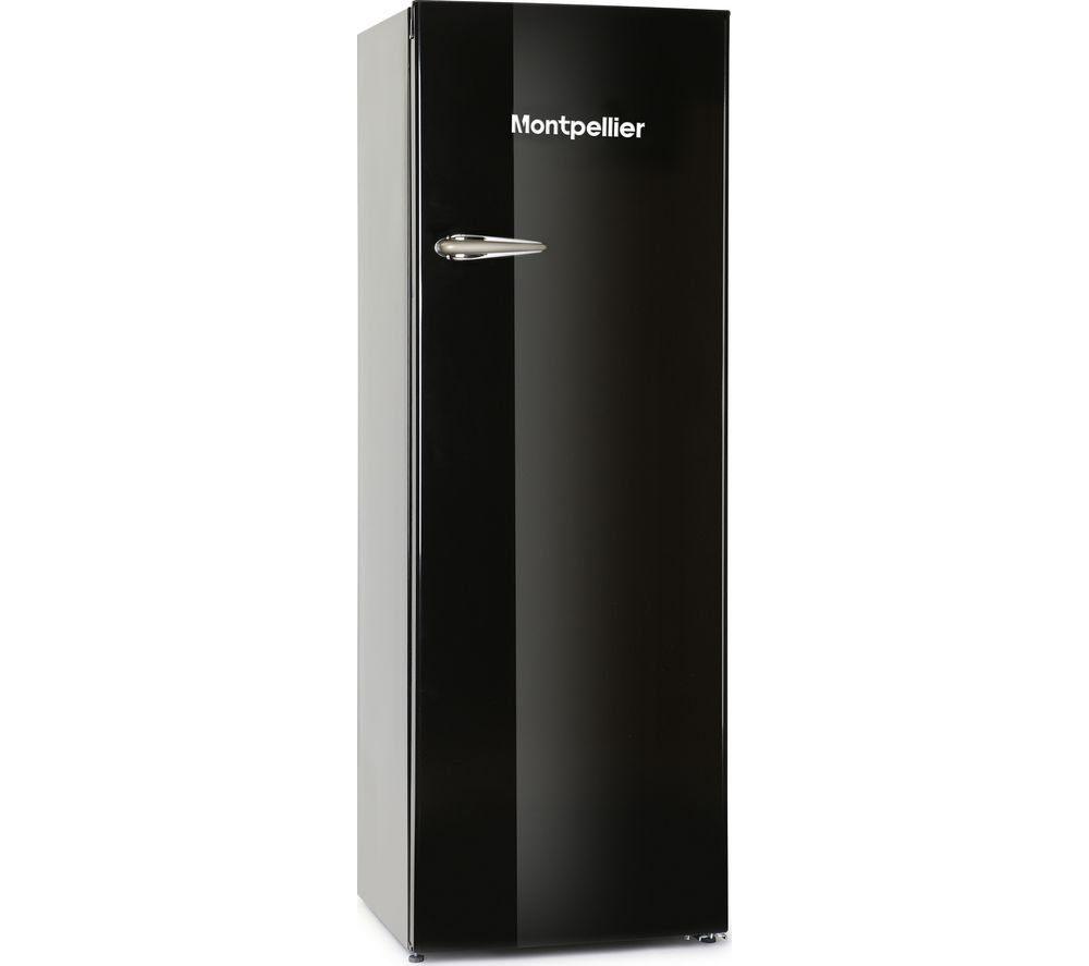 MONTPELLIER MAB340K Tall Fridge – Black, Black