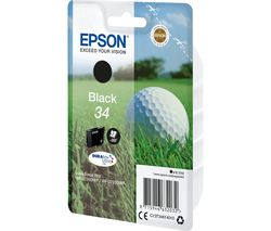 EPSON 34 Golf Ball Black Ink Cartridge