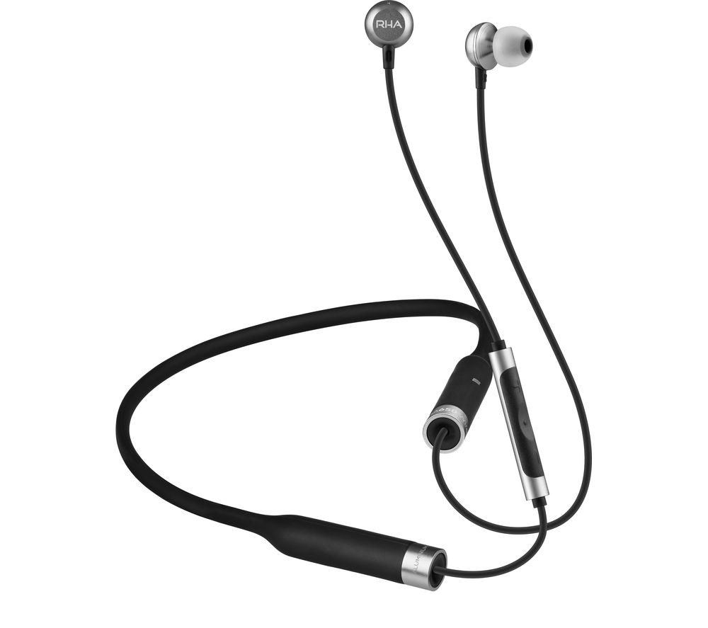 RHA MA650 Wireless Bluetooth Headphones - Black & Silver