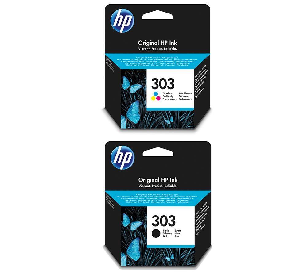 HP 303 Combo Tri-colour & Black Ink Cartridges