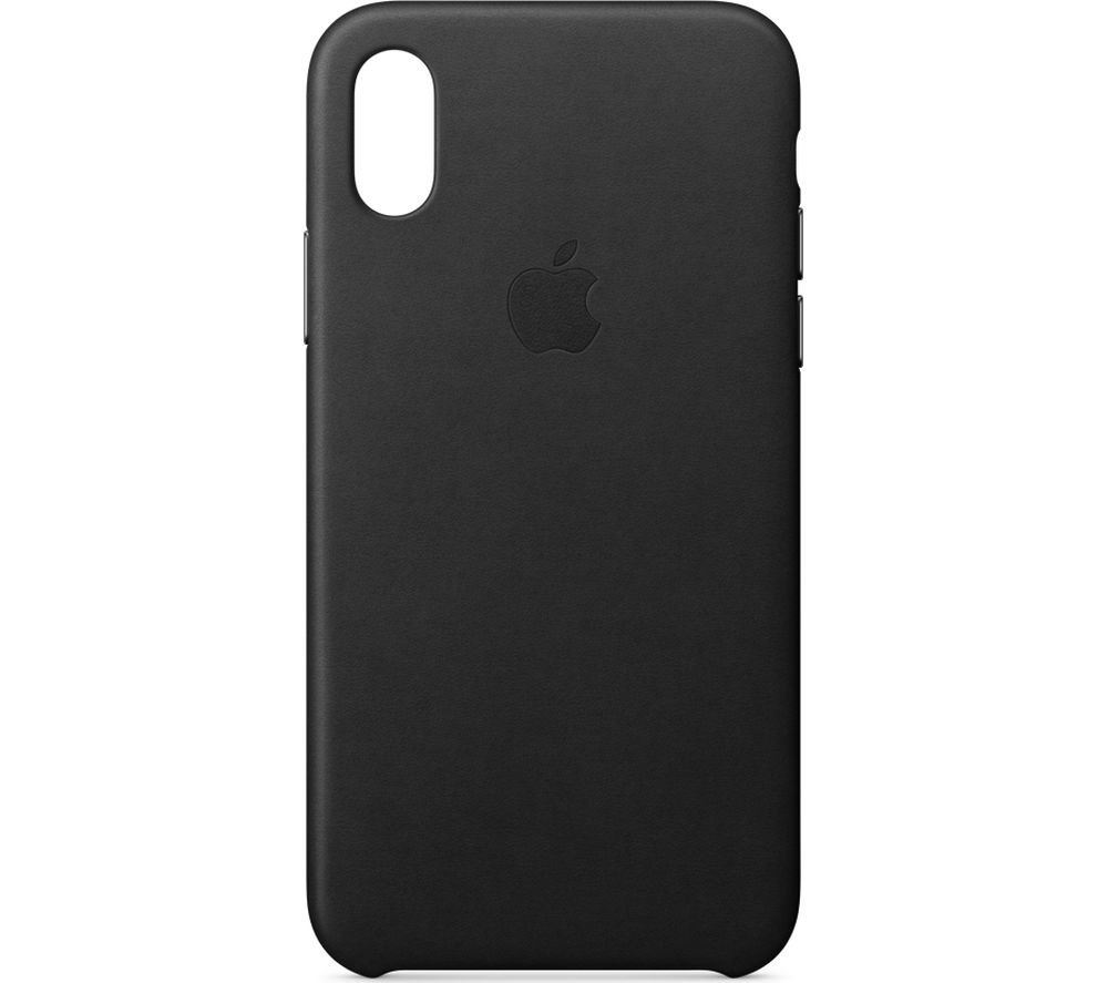apple leather iphone case buy apple iphone x leather black free delivery 13487