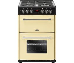 BELLING Farmhouse 60DF Dual Fuel Cooker - Cream