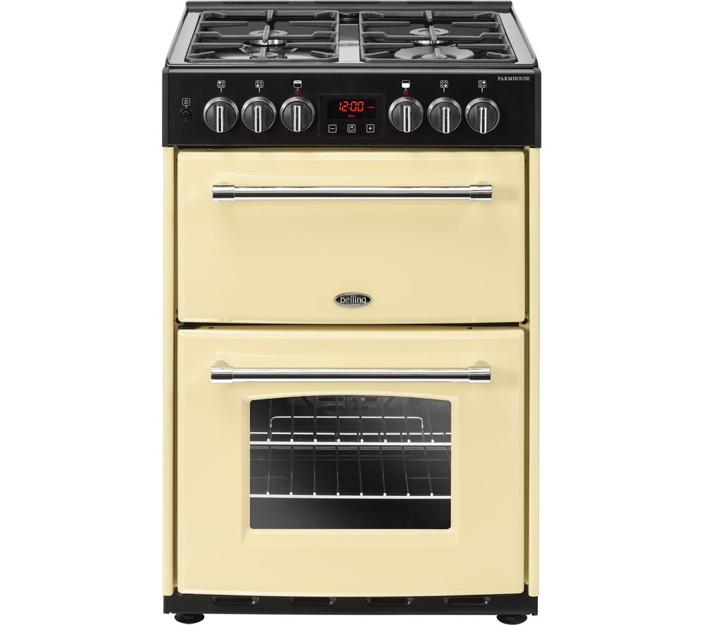 Compare retail prices of Belling Farmhouse 60DF Dual Fuel Cooker - Cream to get the best deal online