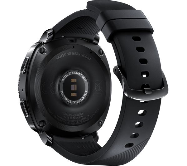 Samsung gear sport black silicone strap deals pc world for Watches gear