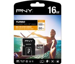 PNY Turbo Performance Class 10 microSD Memory Card - 16 GB