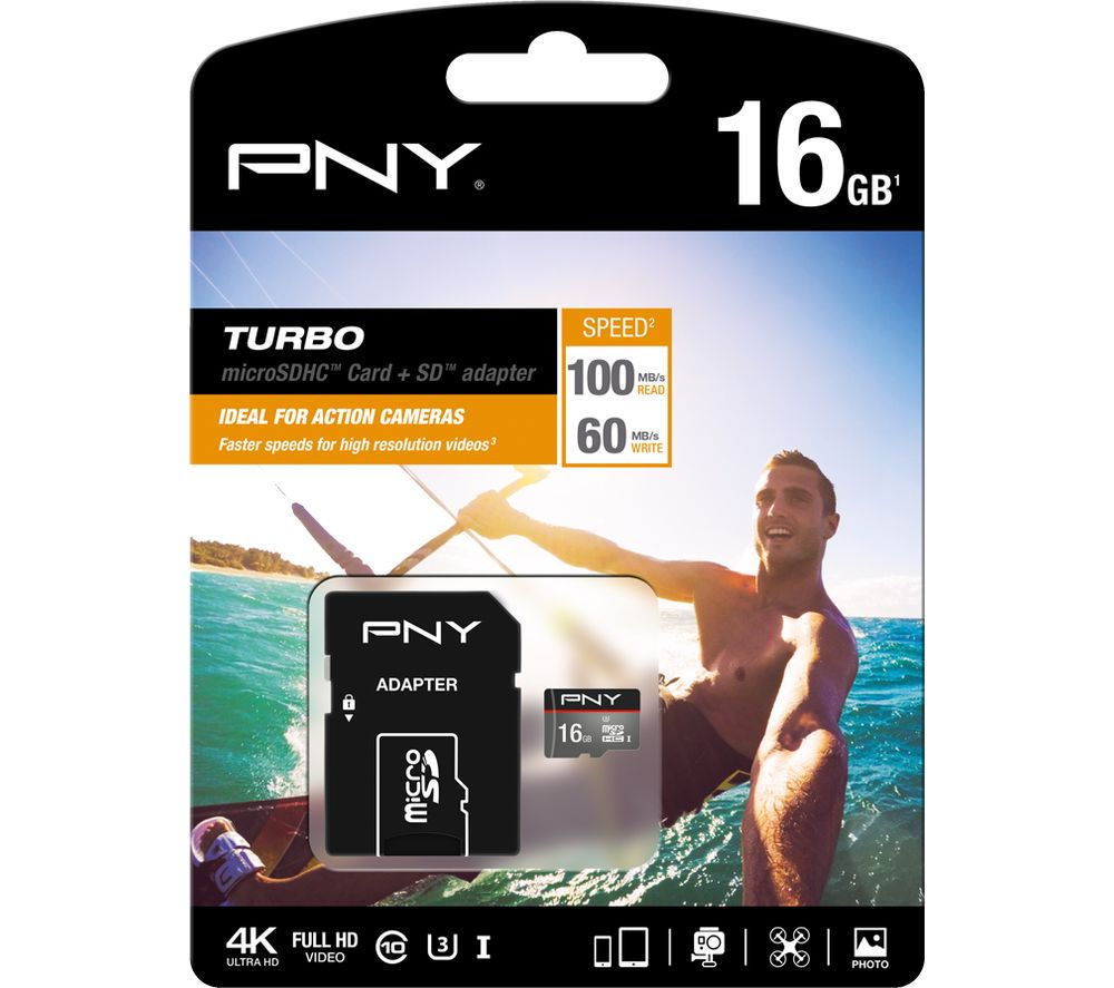 PNY Turbo Performance Class 10 microSD Memory Card - 16 GB