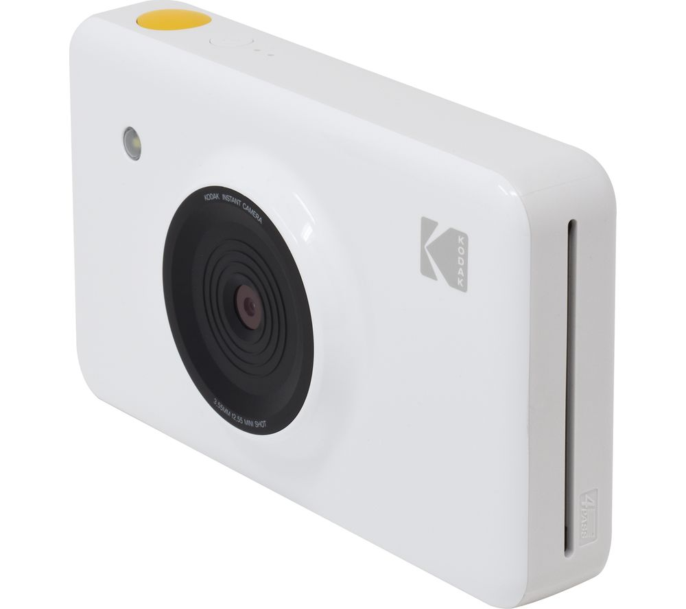 KODAK Mini Shot KODMSW Instant Camera - White + Minishot Cartridge - 50 sheets