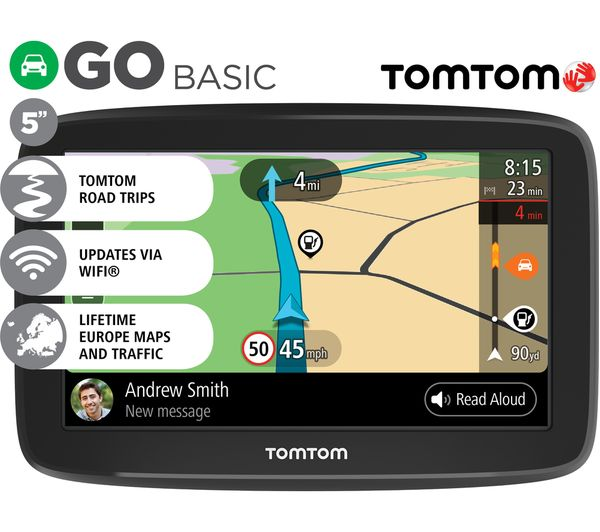 tomtom go basic 5 sat nav full europe maps fast delivery currysie. Black Bedroom Furniture Sets. Home Design Ideas