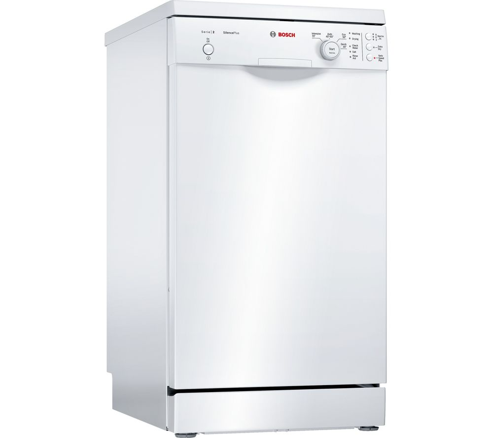 bosch serie 2 sps24cw00g slimline dishwasher white fast. Black Bedroom Furniture Sets. Home Design Ideas