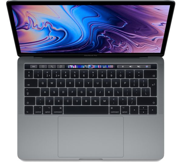 buy apple macbook pro 13 with touch bar 512 gb ssd space grey 2018 free delivery currys. Black Bedroom Furniture Sets. Home Design Ideas