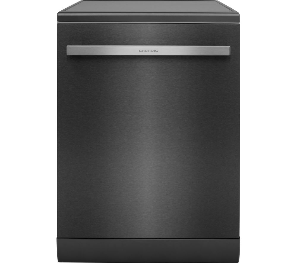 GRUNDIG GNF41825Z Full-size Dishwasher - Dark Steel