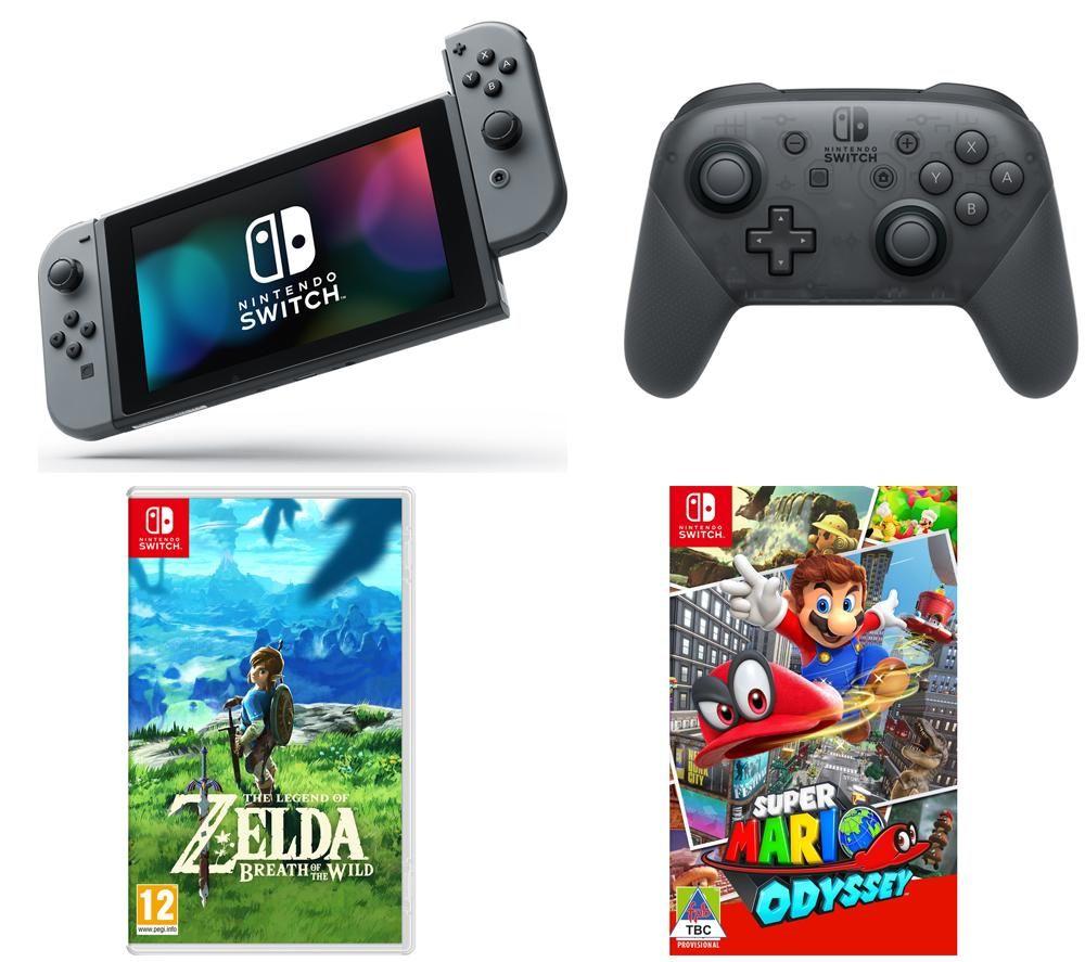 Nintendo Switch Super Mario Odyssey Bundle Switchsuper Legend Of Zelda Breath The Wild