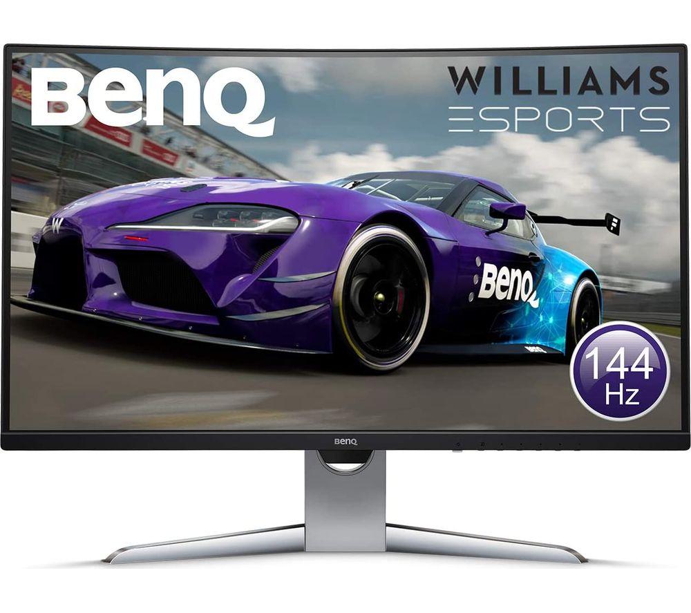 """BENQ EX3203R Quad HD 32"""" Curved LED Monitor - Grey"""