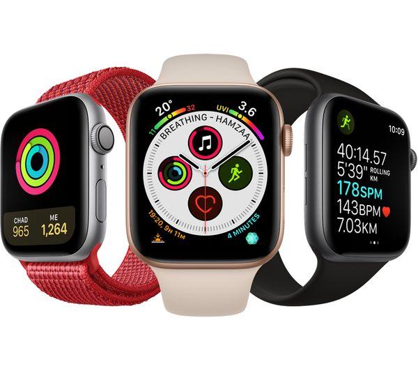 meet 4cc61 5d890 APPLE Watch Series 4 - Space Grey & Black Sports Loop, 40 mm