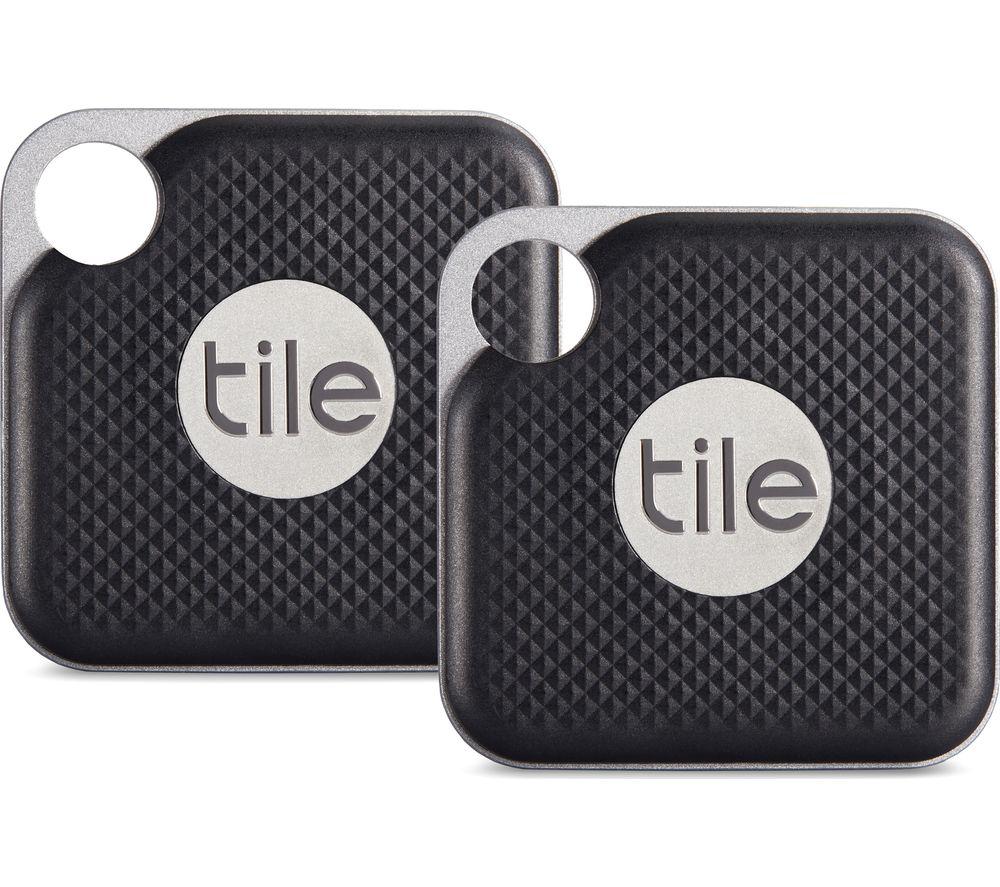 Image of TILE Pro Bluetooth Tracker - Black, Pack of 2, Black