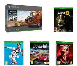 MICROSOFT Xbox One X, Forza Horizon 4, Forza Motorsport 7, Project Cars 2, Fallout 76, Tekken 7 & FIFA 19 Bundle