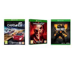 XBOX ONE Call of Duty: Black Ops 4, Tekken 7 & Project Cars 2 Bundle
