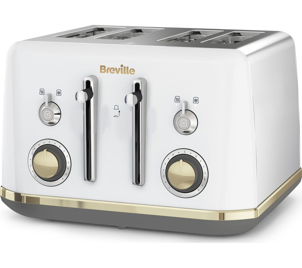 BREVILLE Mostra VTT937 4-Slice Toaster - White, White
