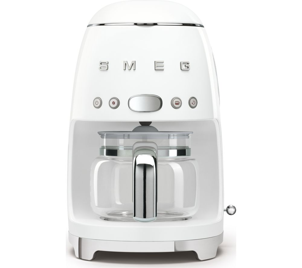 SMEG 50s Retro DCF02WHUK Filter Coffee Machine - White, White