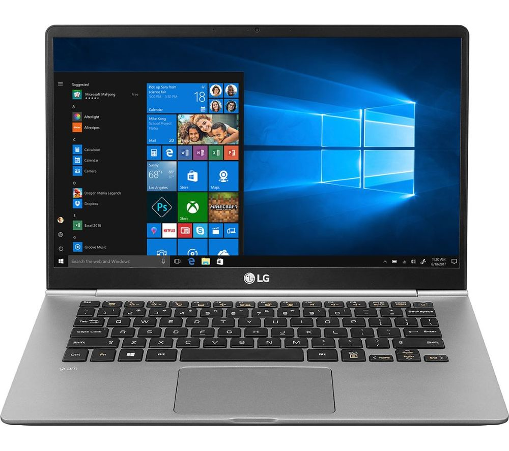 "LG GRAM 14Z990 14"" Intel® Core™ i7 Laptop - 512 GB SSD, Silver, Silver"