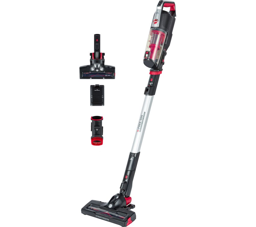 H-FREE 500 Home HF522BH Cordless Vacuum Cleaner - Red & Black, Red