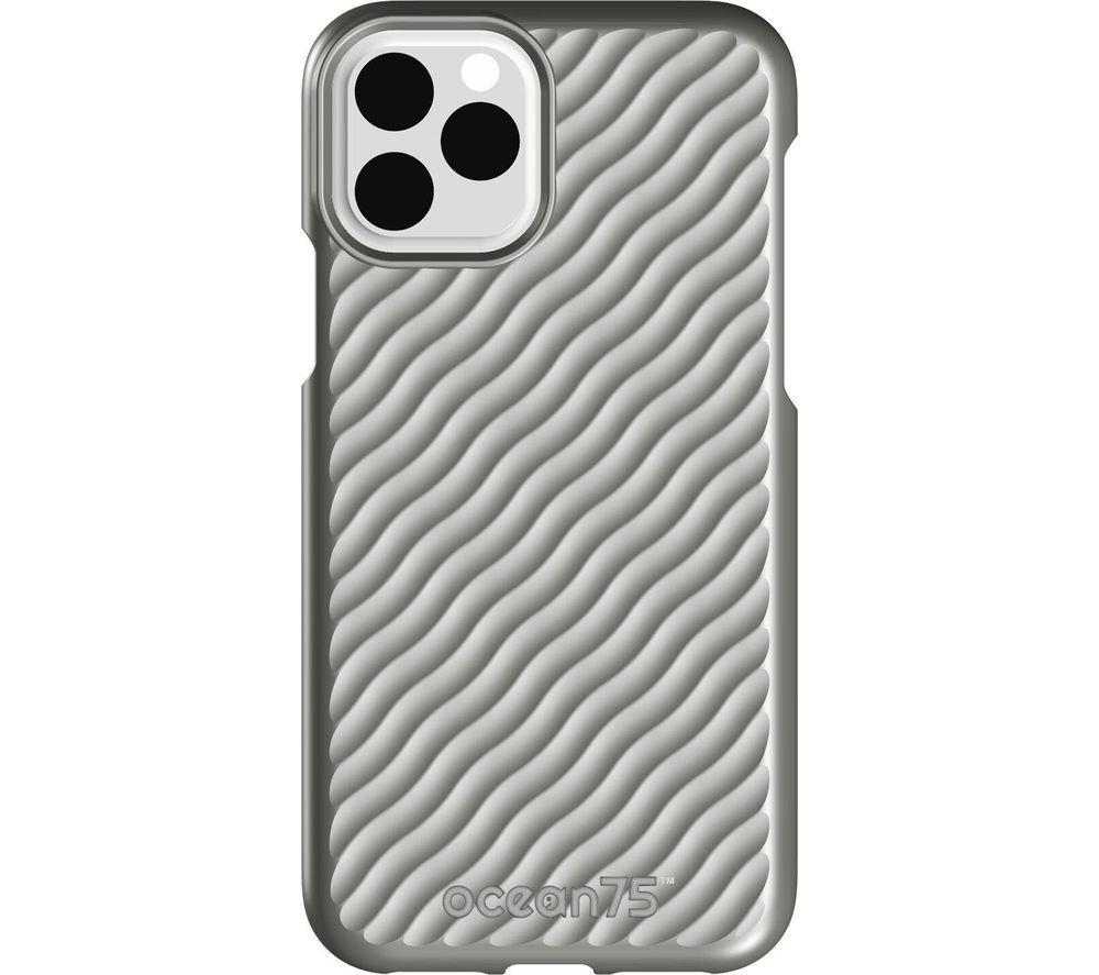 Image of Ocean Wave iPhone 11 Pro Case - Dolphin Grey, Grey