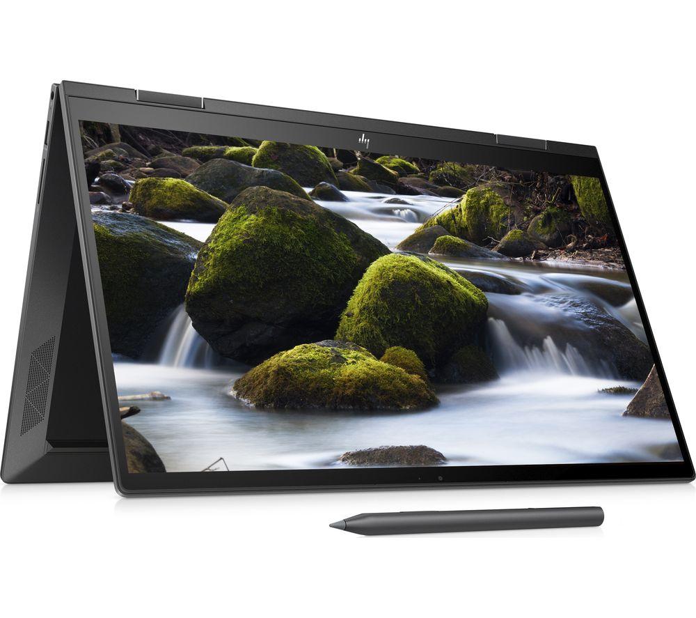 """HP ENVY x360 15.6"""" AMD Ryzen 7 2 in 1 Laptop - 512 GB SSD, Black, Black"""