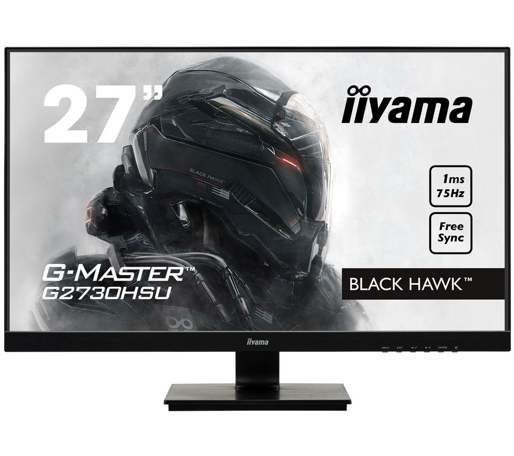 "Image of IIYAMA G-MASTER Black Hawk G2730 Full HD 27"" TN LCD Gaming Monitor - Black, Black"