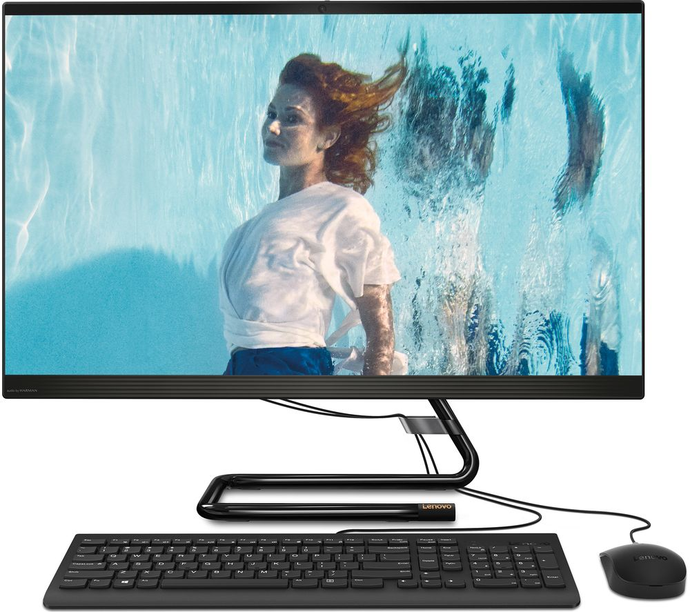 "LENOVO IdeaCentre AIO 3i 27"" All-in-One PC – Intel® Core™ i5, 1 TB HDD & 128 GB SSD, Black"