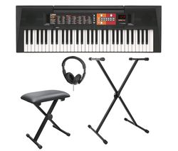 PSR-F51 Home Keyboard Bundle - Black