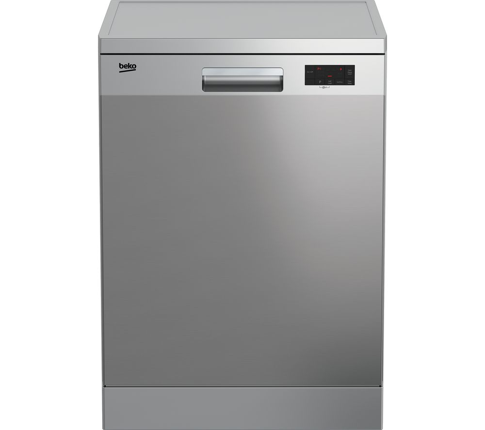Image of BEKO DFN16X21X Full-size Dishwasher - Stainless Steel, Stainless Steel