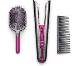 Corrale Gift Edition Cordless Hair Straightener & Styling Set - Black Nickel & Fuchsia