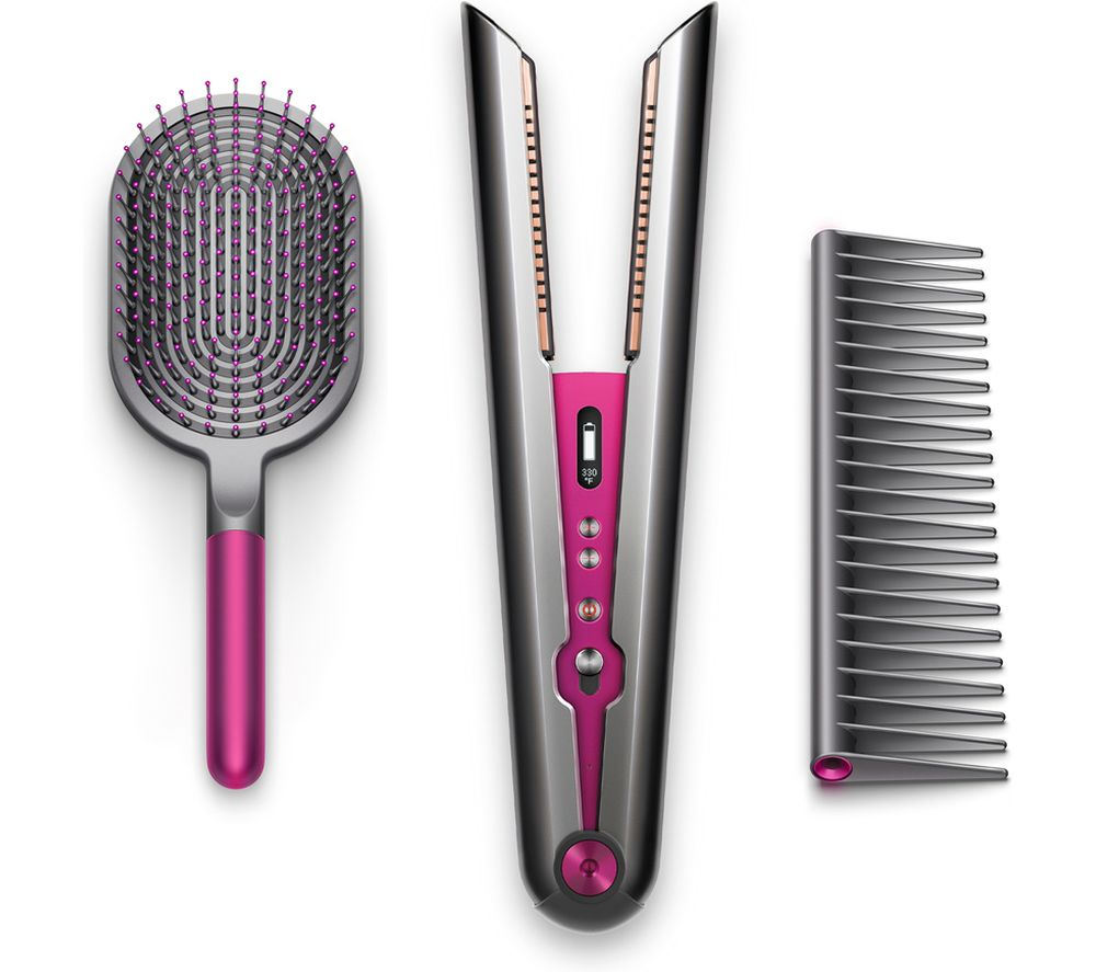 DYSON Corrale Gift Edition Cordless Hair Straightener & Styling Set - Black Nickel & Fuchsia