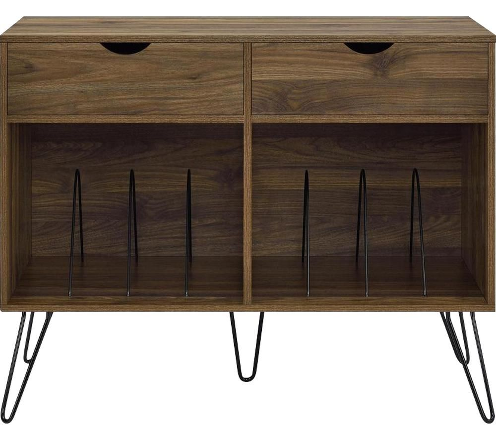 Image of DOREL HOME Concord 1323222COMUK Turntable Stand - Walnut
