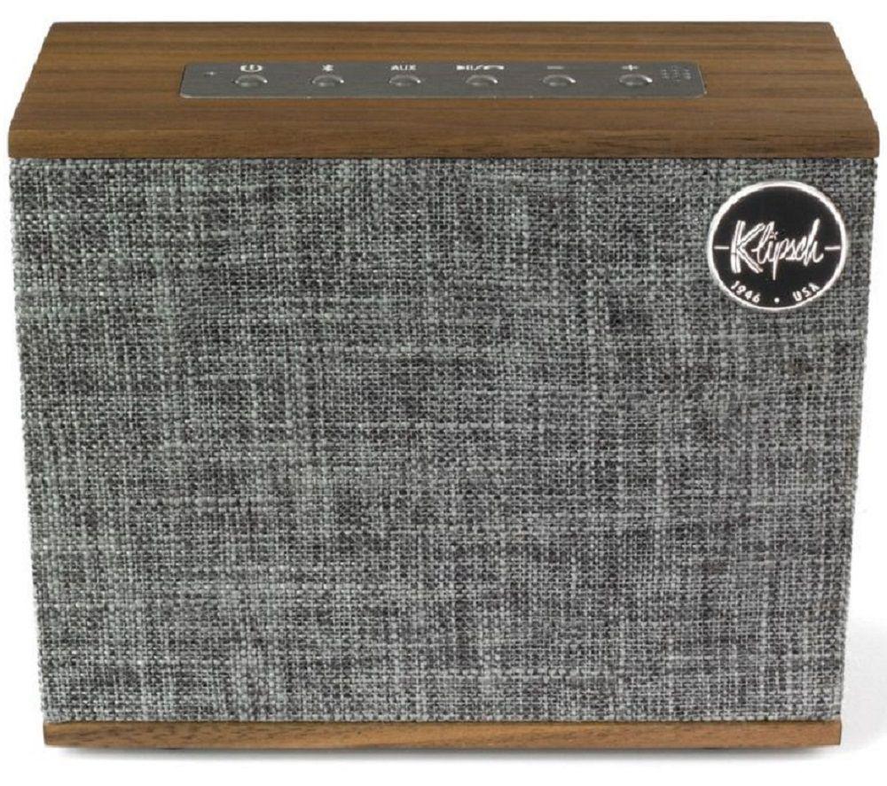 KLIPSCH Heritage Groove Portable Bluetooth Speaker - Walnut, Grey