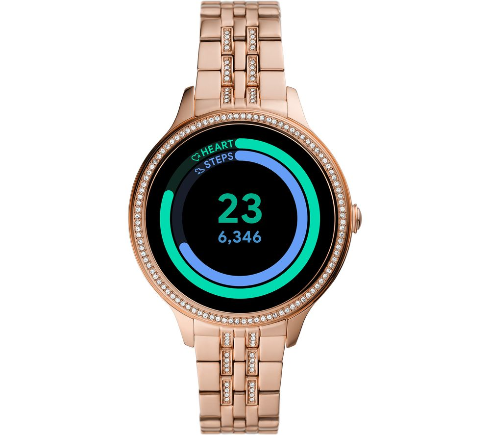 FOSSIL Gen 5E FTW6073 Smartwatch - Rose Gold, Stainless Steel Strap