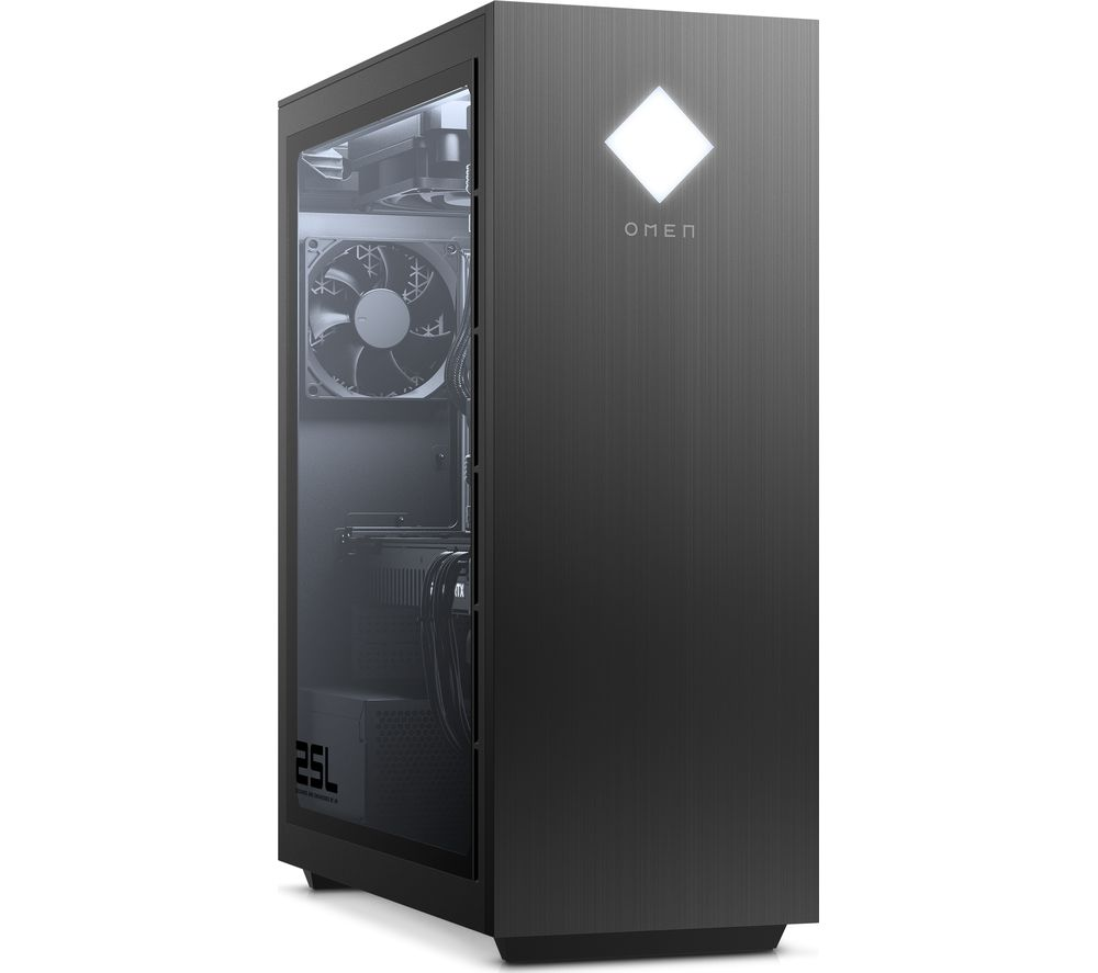 HP OMEN 25L Gaming PC - AMD Ryzen 5, RTX 3060, 1 TB HDD & 256 GB SSD