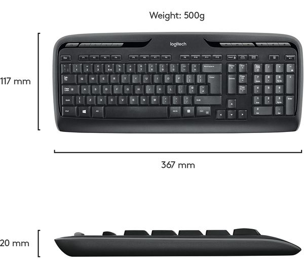 LOGITECH MK330 Wireless Keyboard & Mouse Set Fast Delivery | Currysie