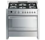 SMEG Opera 90 Dual Fuel Range Cooker - Stainless Steel