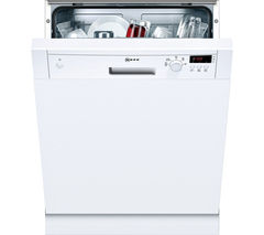 NEFF S41E50W1GB Full-size Semi-integrated Dishwasher - White