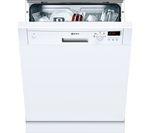 NEFF S41E50W1GB Full-size Semi-integrated Dishwasher - White
