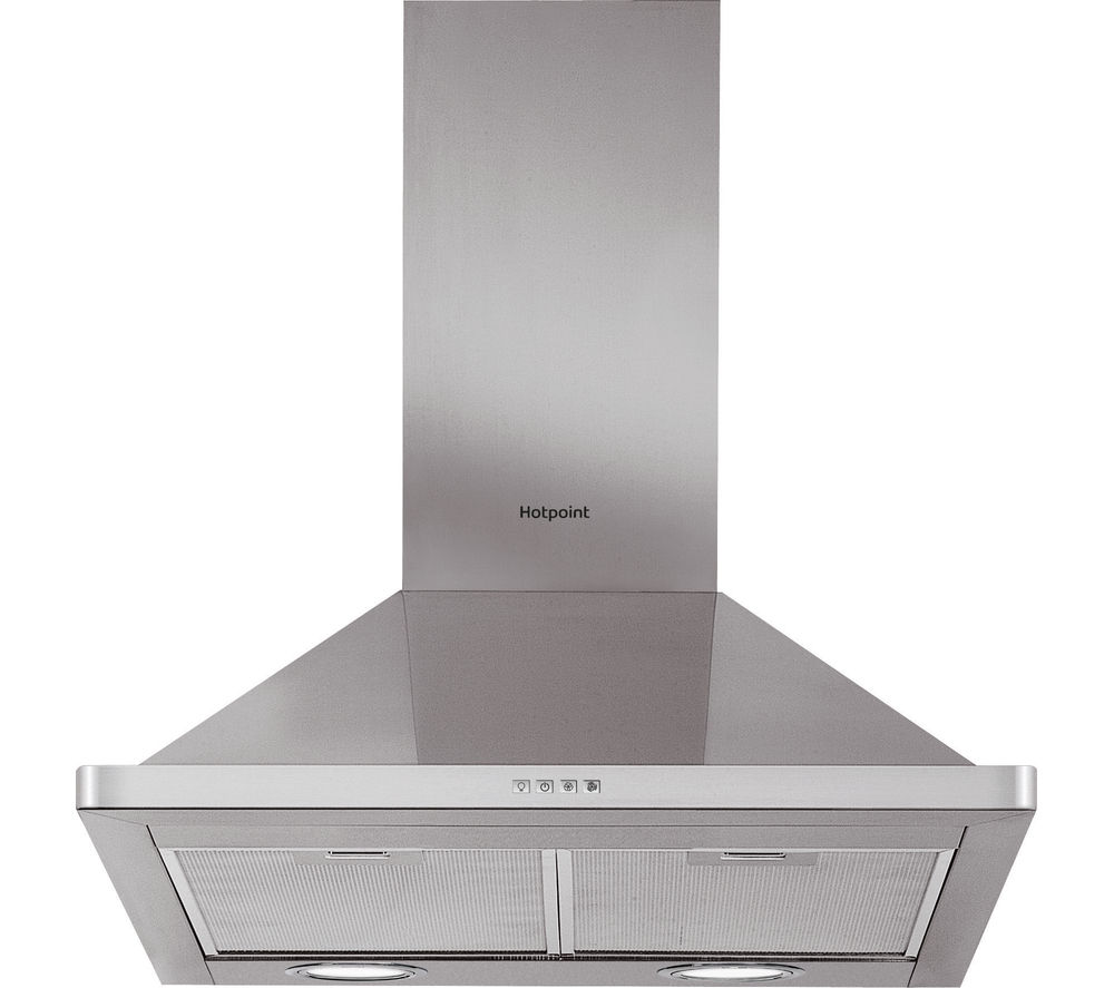 HOTPOINT PHPN6.4FAMX Chimney Cooker Hood - Stainless Steel