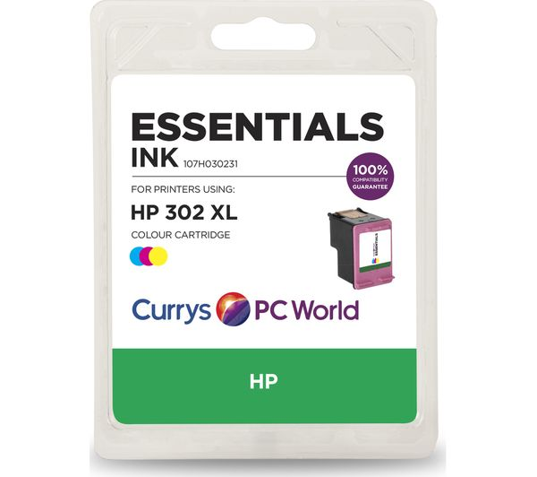 Image of ESSENTIALS 302 XL Tri-Colour HP Ink Cartridge